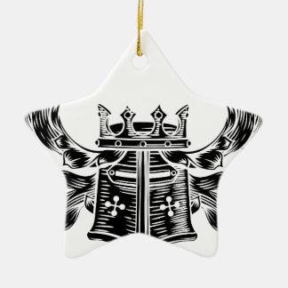 Ornamento De Cerâmica Crista heráldica da brasão do capacete