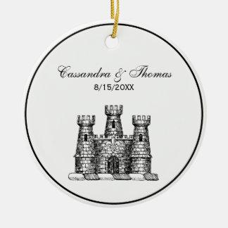 Ornamento De Cerâmica Crista heráldica da brasão do emblema do castelo