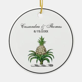 Ornamento De Cerâmica Crista heráldica formal da brasão do abacaxi