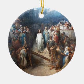 Ornamento De Cerâmica Cristo que deixa Praetorium