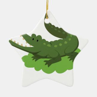 Ornamento De Cerâmica crocodilo