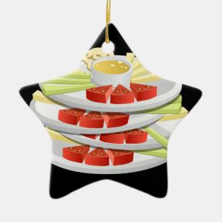 Ornamento De Cerâmica Crudites da escolha da comida do pulso aleatório