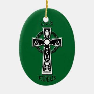 Ornamento De Cerâmica Cruz celta