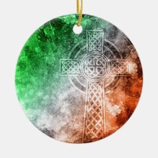 Ornamento De Cerâmica Cruz celta irlandesa