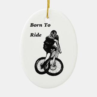 Ornamento De Cerâmica Cruz ciclo do CICLISTA do motociclista MTB BMX da
