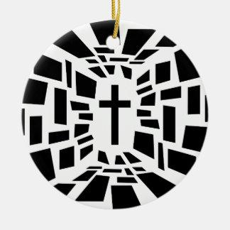 Ornamento De Cerâmica Cruz cristã