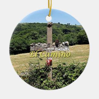 Ornamento De Cerâmica Cruz de madeira, EL Camino, espanha
