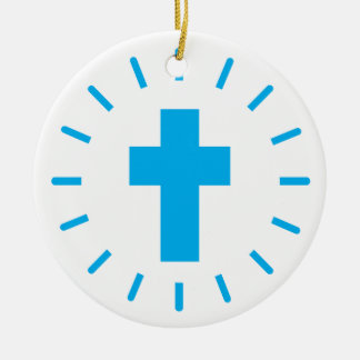 Ornamento De Cerâmica Cruz do Jesus Cristo