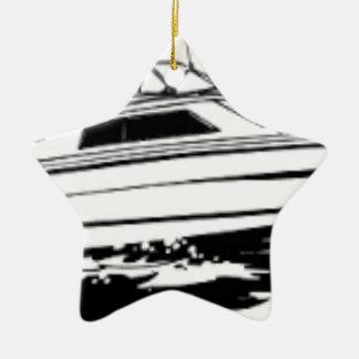 Ornamento De Cerâmica Cruzador do barco da velocidade