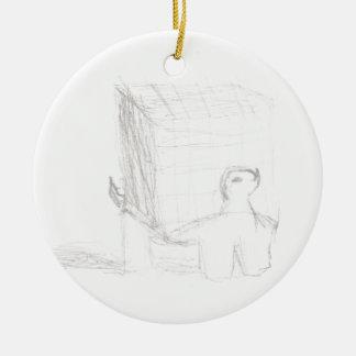 Ornamento De Cerâmica cubo da tartaruga de caixa que tira Eliana