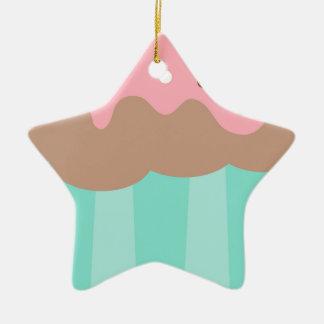 Ornamento De Cerâmica Cupcake da hortelã