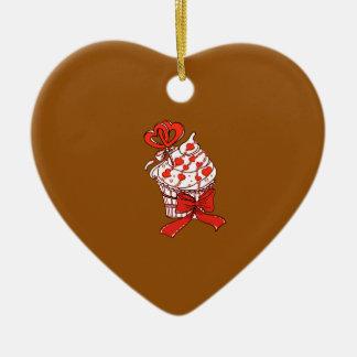 Ornamento De Cerâmica Cupcake dos namorados