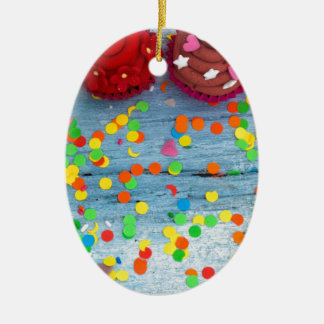 Ornamento De Cerâmica cupcakes coloridos