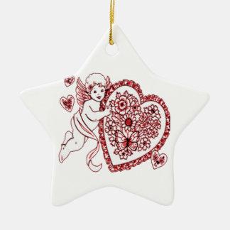 Ornamento De Cerâmica Cupido