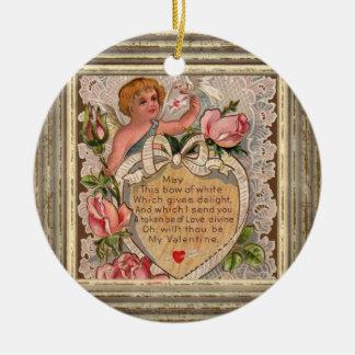 Ornamento De Cerâmica Cupido do poema dos namorados