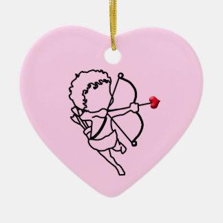 Ornamento De Cerâmica Cupido - tomado
