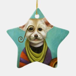 Ornamento De Cerâmica Curioso como o Fox de A