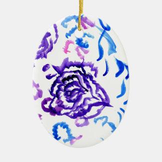 Ornamento De Cerâmica Cursos coloridos 4 das flores