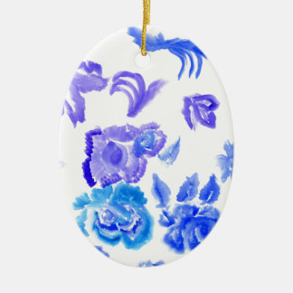 Ornamento De Cerâmica Cursos coloridos das flores