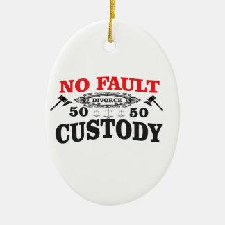 Ornamento De Cerâmica custódia 50 do divórcio 50 do gavel