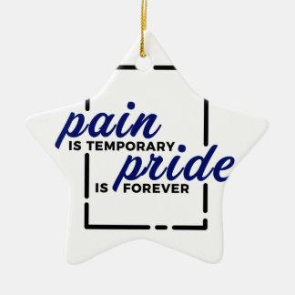 Ornamento De Cerâmica Da dor curta do ganho do orgulho vitória longa dos