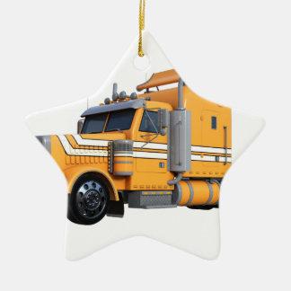 Ornamento De Cerâmica Da laranja reboque de tractor semi