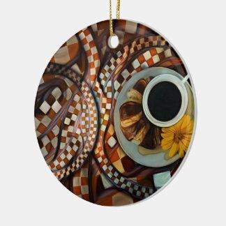 Ornamento De Cerâmica Da meia-noite extremidades nunca, um Fractal