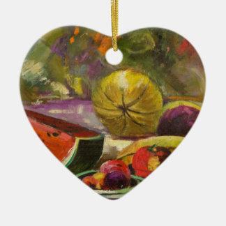 Ornamento De Cerâmica Da melancia vida ainda