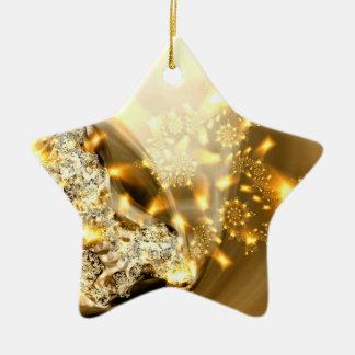 """Ornamento De Cerâmica Da prata da faísca do """"ornamento ouro e"""""""