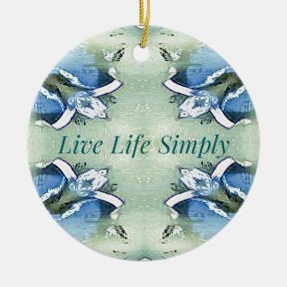 Ornamento De Cerâmica 'Da vida estilo de vida vivo pairoso claro