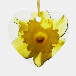 Ornamento De Cerâmica Daffodil 1,0 da trombeta amarela