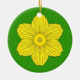 Ornamento De Cerâmica Daffodil heráldico