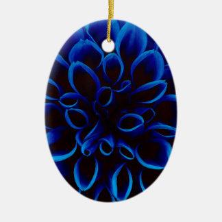 Ornamento De Cerâmica Dália azul