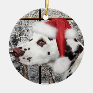 Ornamento De Cerâmica Dalmatian do Natal