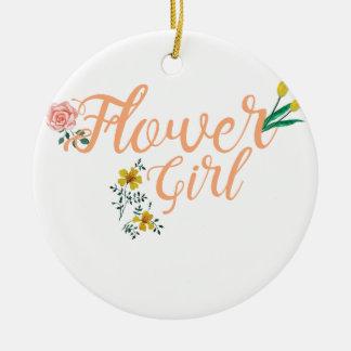 Ornamento De Cerâmica Dama de honra bonito do florista