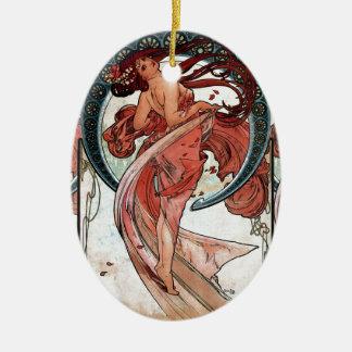 Ornamento De Cerâmica Dança de Alfons Mucha 1898