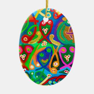 Ornamento De Cerâmica Dança do ESPERMA - imaginação sensual do artista