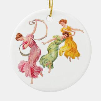 Ornamento De Cerâmica Dança para a alegria