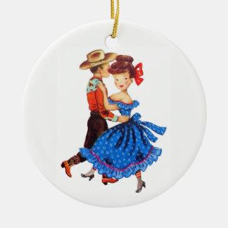 Ornamento De Cerâmica Dança quadrada