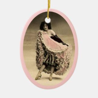 Ornamento De Cerâmica Dançarino 4 do Cancan