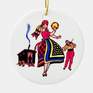 Ornamento De Cerâmica Dançarino de Gypsey