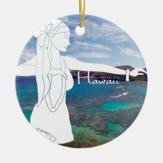 Ornamento De Cerâmica Dançarino de Havaí Hula