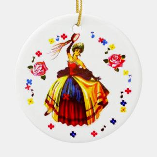 Ornamento De Cerâmica Dançarino espanhol