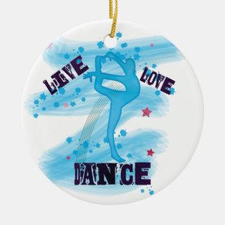 Ornamento De Cerâmica Dançarino vivo do azul da dança do amor do costume