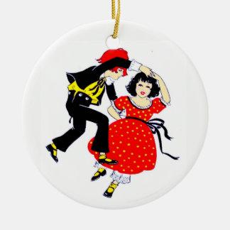 Ornamento De Cerâmica Dançarinos do balanço