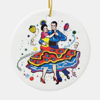 Ornamento De Cerâmica Dançarinos do tango do partido