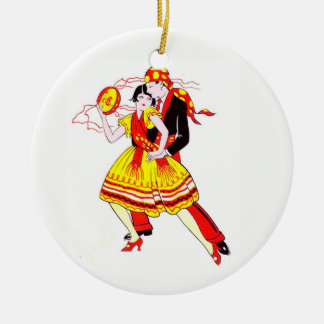 Ornamento De Cerâmica Dançarinos românticos