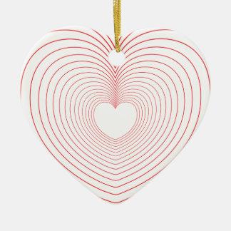 Ornamento De Cerâmica ♥♥ das vibrações do amor do ♥♥