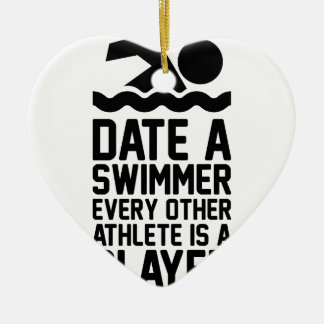 Ornamento De Cerâmica Date um nadador