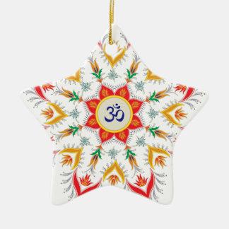 """Ornamento De Cerâmica De """"flocos Sn'owm!!! """""""